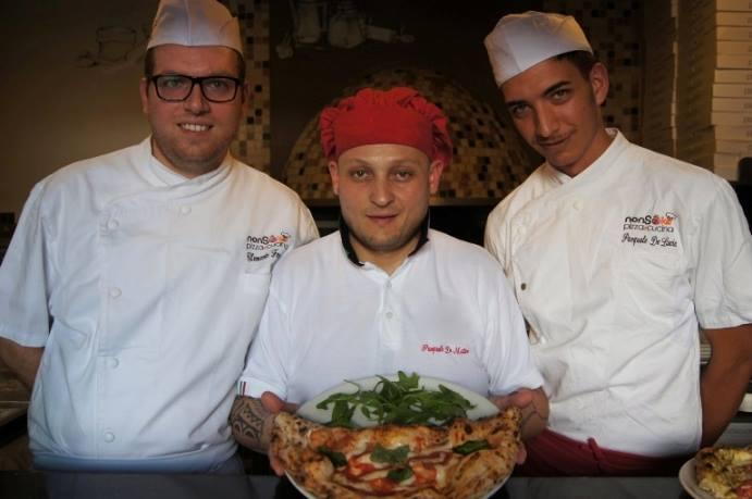 Nonsoke pizza e cucina. Pasquale De Matteo con Pasquale De  Lucia e Clemente Ferrara