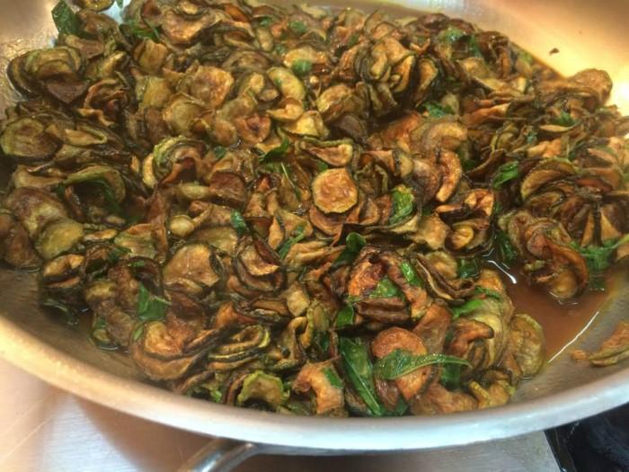 Peppe Guida, zucchine fritte