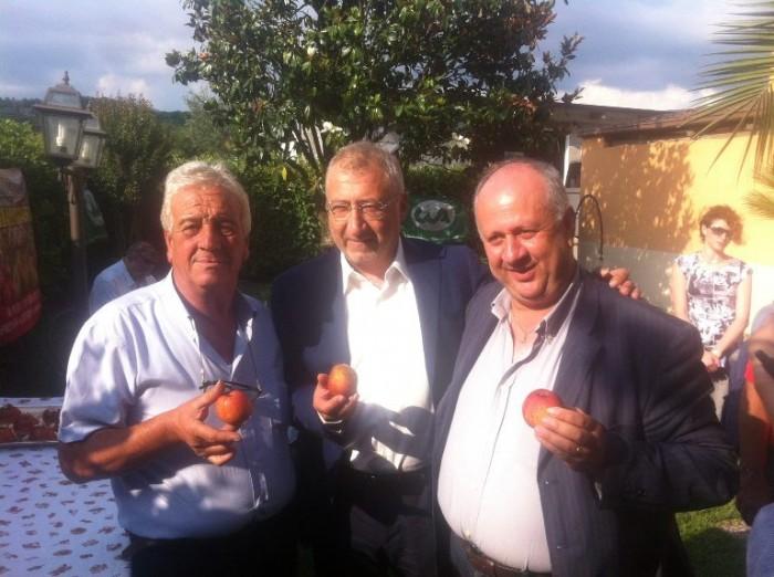 Raffaele Lombardi, il Presidente del Gal Taburno Mario Grasso e Alfonso Del Basso Direttore della CIA di Benevento