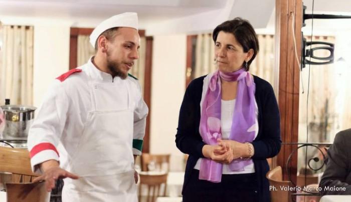 Restituta Somma, fiduciaria Slow Food Campi Flegrei, e Vincenzo Di Razza de Il Rudere