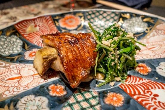 Ryugin, Kinki fish alla melanzana con verdure primaverili al sesamo