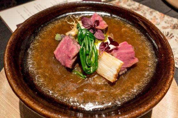 Ryugin, Carne Sanuki in stile Sukiyaki