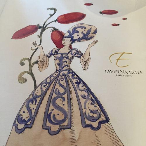 Taverna Estia, la copertina del menu
