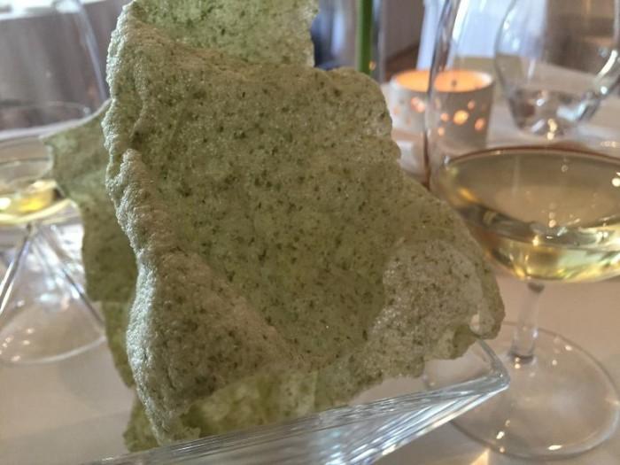Taverna  Estia, chips di alga