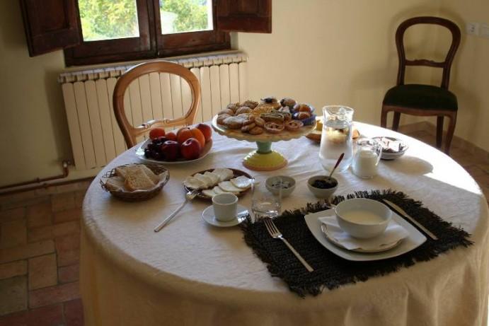 Ciavolich, tavolo della colazione