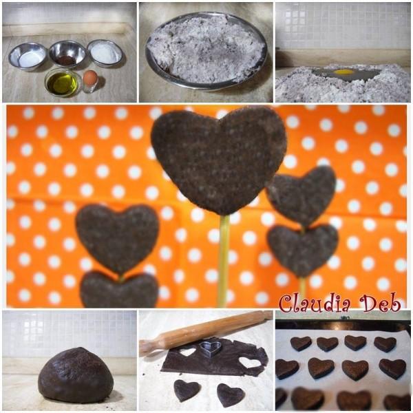 Tutorial biscotti di pasta frolla al cacao senza latte e senza burro