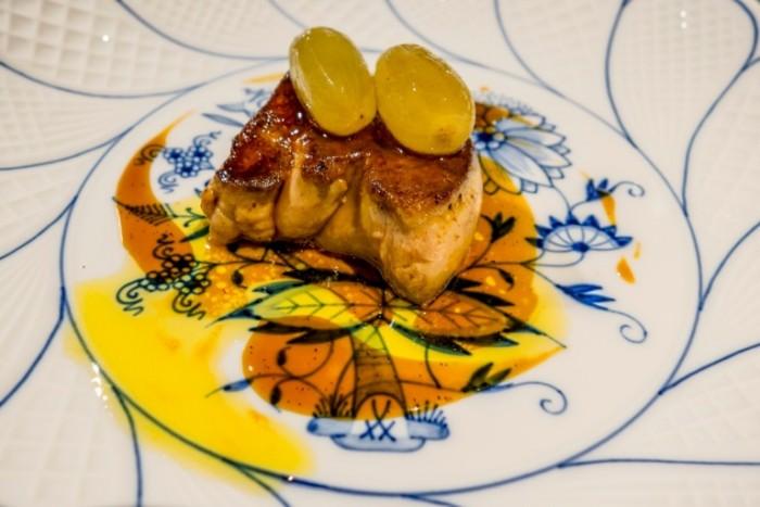 Ginza Ukai-Tei, Foie gras all'uva e crema di cipolla caramellata