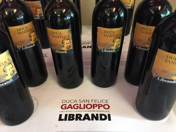 Verticale Gaglioppo di Librandi, i vini in degustazione