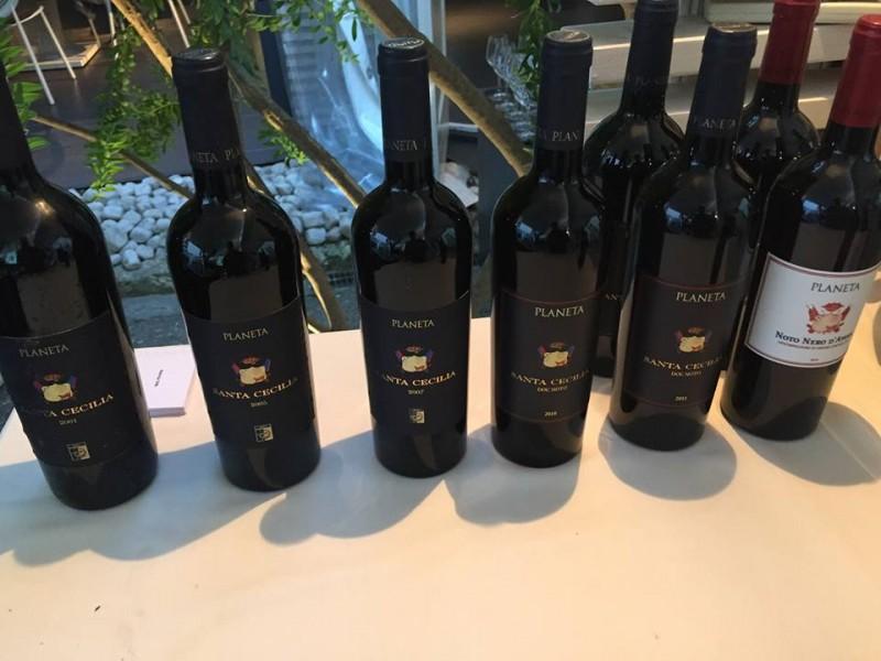 Le bottiglie della Verticale di Nero d'Avola