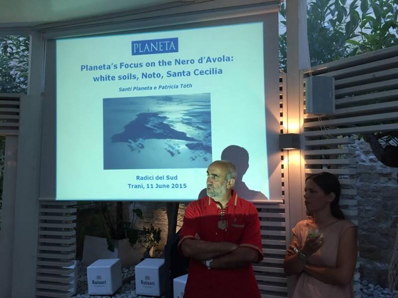 Maurizio Gily e l'enologa Patricia Toth