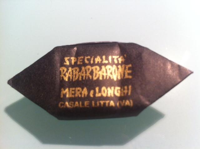 caramella rabarbarone Mera & Longhi