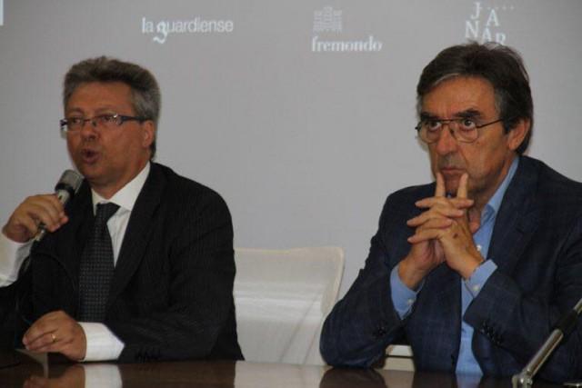 Il presidente Pigna e l'enologo Cotarella