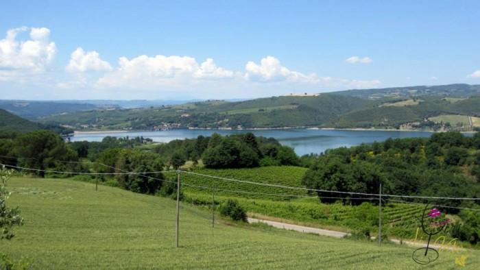 il lago visto dalla Villa Monticelli