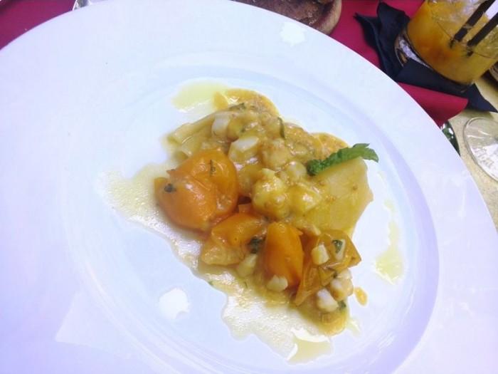 Cantina La Barbera, paccheri con baccalà e pomodorini gialli del Vesuvio