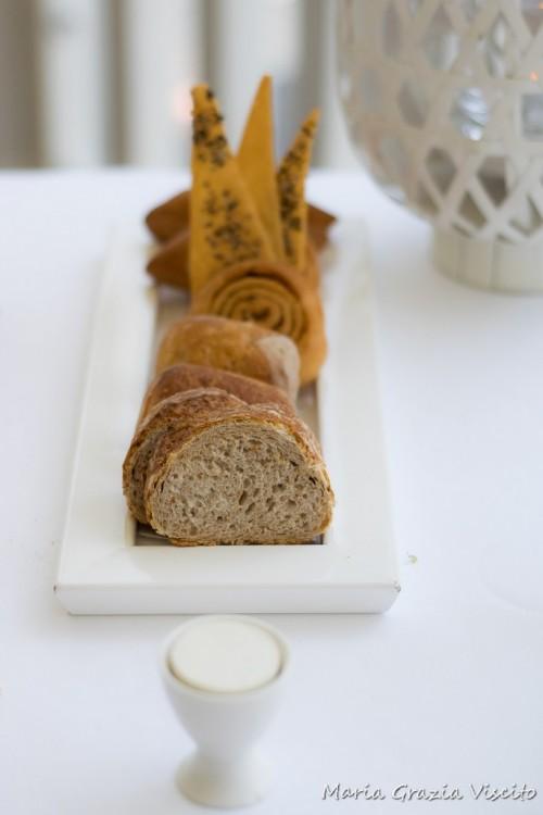 Uliassi, pane e burro all'acqua di osrtiche