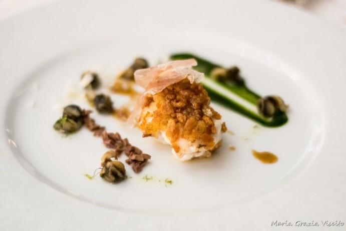Uliassi, rana pescatrici in porchetta