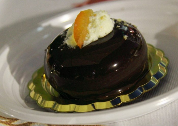 la gelateria di Paolo Amato, ricotta cioccolato fondente e scorza di arancia