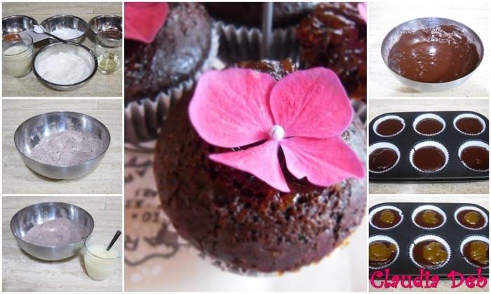 tutorial muffin al cacao senza latte e senza uova