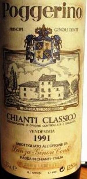 Chianti Classico Poggerino 1991