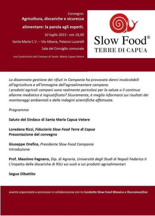 Convegno sulla sicurezza alimentare con Slow Food Terre di Capua