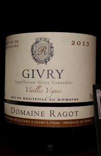 Domaine Ragot - Givry Vielles Vignes 2013