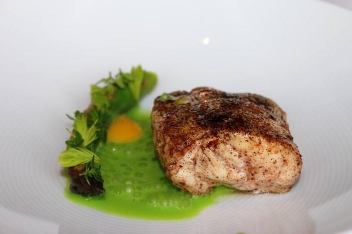 Geranium, versione con il pesce del piatto precedente