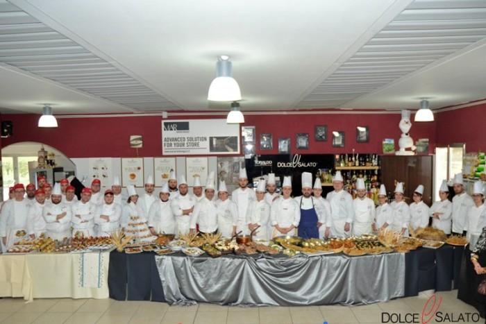 Gli allievi della Scuola Dolce & Salato di Maddaloni