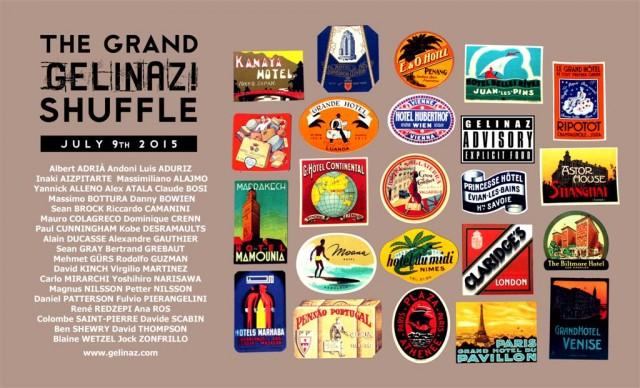 Il manifesto che pubblicizza Gelinaz! Shuffle
