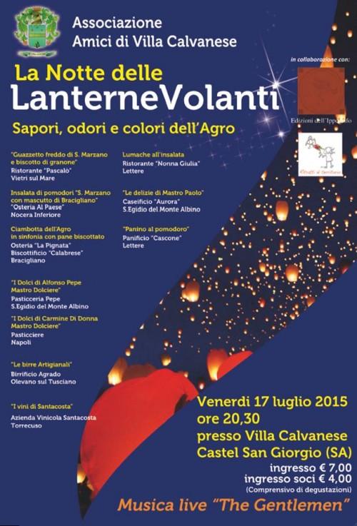 La notte delle lanterne volanti a Villa Calvanese
