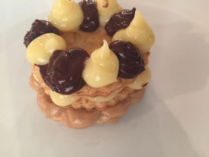 Le Colonne Marziale, millefoglie, nocciola, crema cioccolato