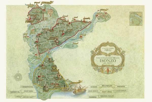 Mappa DOC Isonzo - foto tratta da www.tenutacasate.it