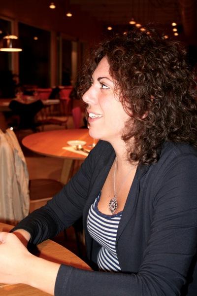Mariapaola Di Cato al ristorante