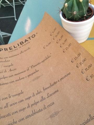 Prelibato Cucina in Piazza, il menu