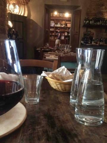 La Cantina di Spello, uno dei tavoli
