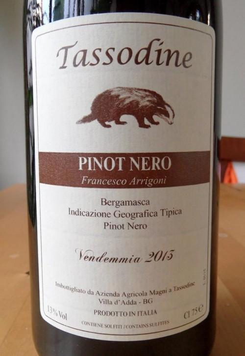 """Tassodine Igt Bergamasca Pinot Nero """"Francesco Arrigoni"""" 2013"""