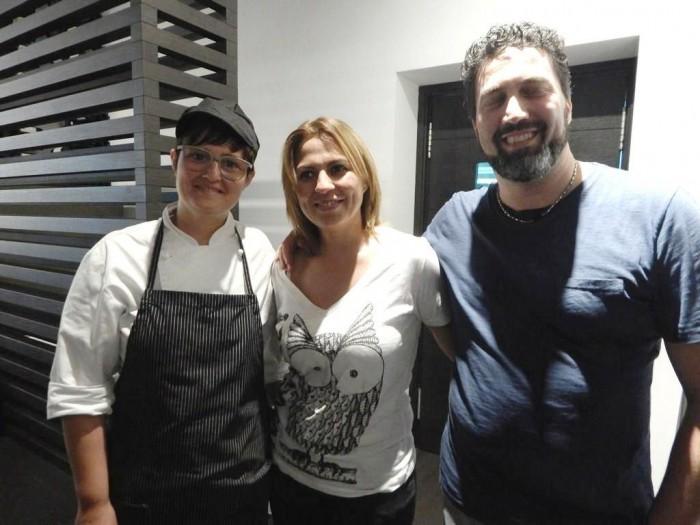 da sx, Carmen e Maria Grazia Urciuoli, Carmine Cucciniello