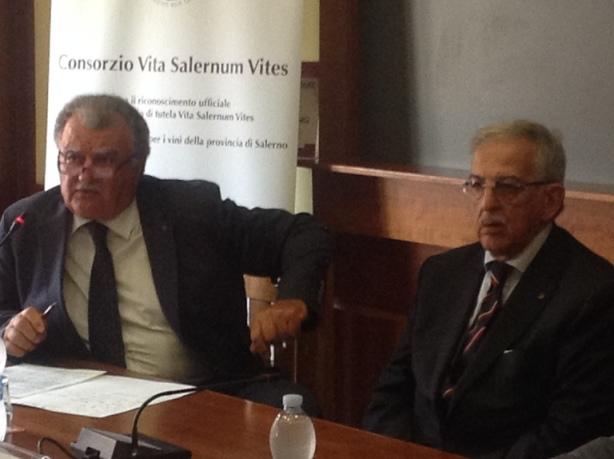 il riconoscimento ufficiale del consorzio di tutela Vita Salernum Vites, un momento della conferenza stampa