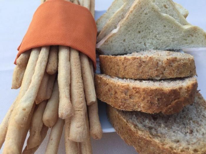 Al Castello di Verduno, il pane e i grissini