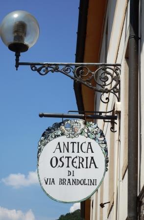 Antica Osteria di Via Brandolini, l'insegna
