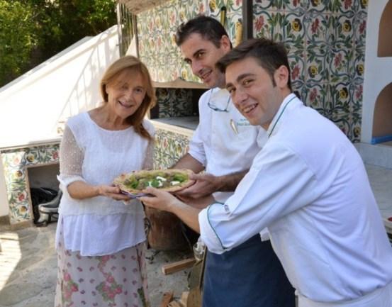 Ciro Oliva con Livia ed Ernesto Iaccarino