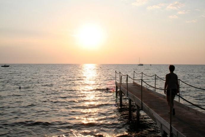 Coppola, tramonto sul Camping