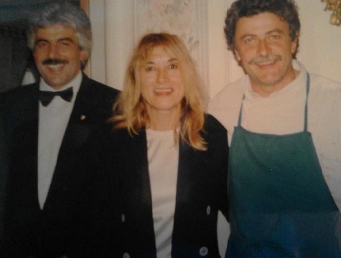 Costanzo Cacace con Alfonso Iaccarino e la moglie Livia