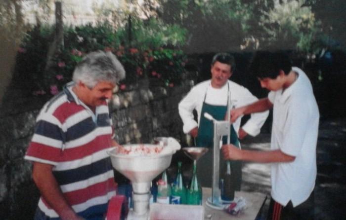 Costanzo Cacace con Alfonso Iaccarino