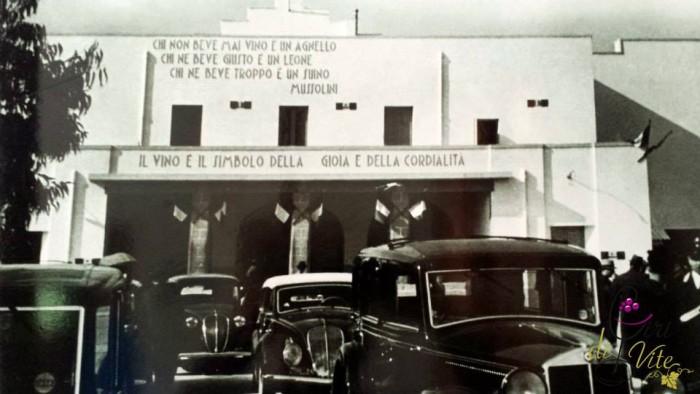 Cupertinum, l'inaugurazione della cantina nel 1935