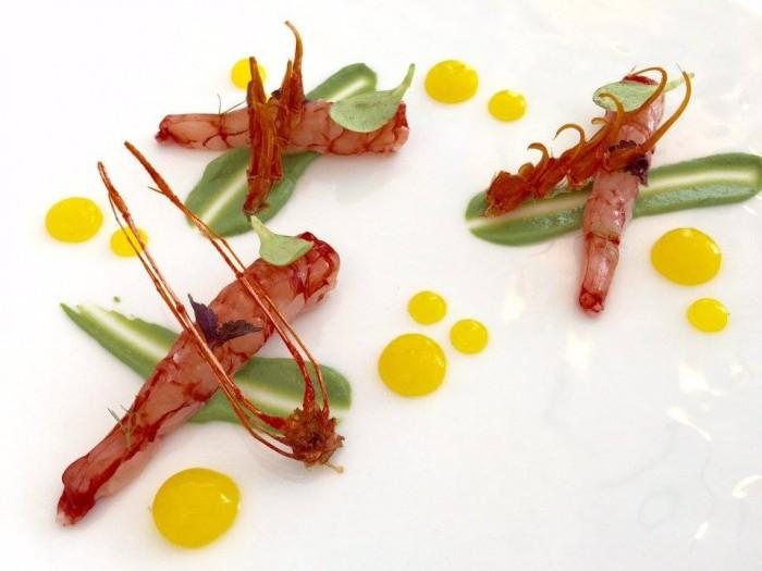 Don Geppi, gamberi rossi, plancton marino e salsa agli agrumi