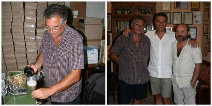 Girolamo D'Amico con Andrea De Palma e Louis Rapini