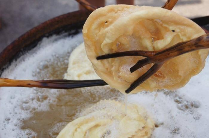 Il guanto di Falciano del Massico in frittura