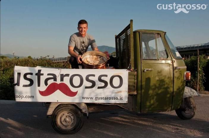 La festa di inizio raccolto 2015 del pomodoro San Marzano, apecar con pizze