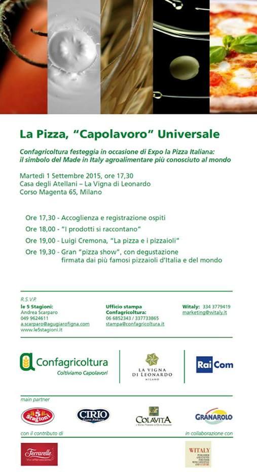 La pizza capolavoro universale: l'evento fuori Expo di Confagricoltura