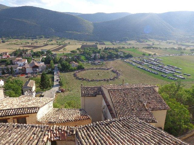 L'altopiano visto dal borgo di Navelli